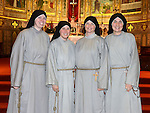 Sr. Monica, Sr. Jacinta, Sr Veronica and Sr. Kelly Frances of the Franciscan Sisters of the Renewal. Photo:Colin Bell/pressphotos.ie