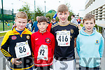 Jamie Horgan, Rory Clifford, Rory Reen and Cathal Murphy, who took part in CBS, The Green fun run on Sunday last.