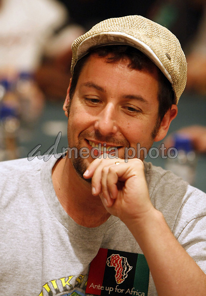 "2 July 2008 - Las Vegas, Nevada - Adam Sandler. Annie Duke and Don Cheadle host the 2nd Annual ""Ante Up For Africa"" Celebrity Poker Tournament during the 2008 World Series of Poker held at the Rio All-Suite Hotel and Casino. Photo Credit: MJT/AdMedia"