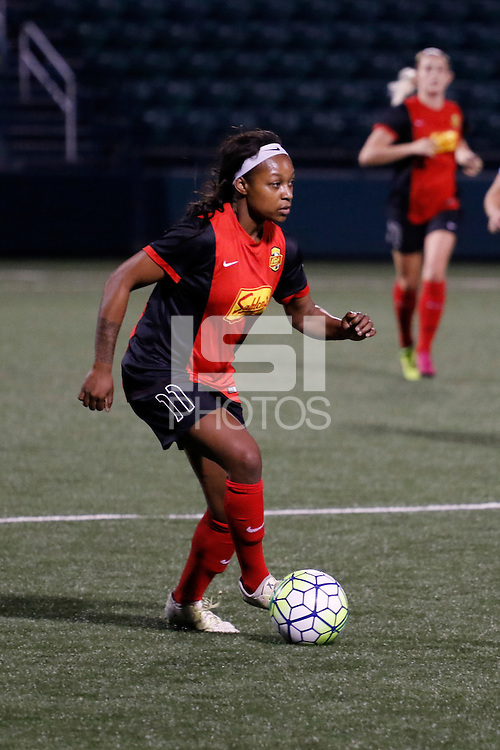 Rochester, NY - Saturday May 21, 2016: Western New York Flash forward Taylor Smith (11). The Western New York Flash defeated Sky Blue FC 5-2 during a regular season National Women's Soccer League (NWSL) match at Sahlen's Stadium.