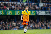 Jerell Sellars (Loanee from Aston Villa) of Wycombe Wanderers during the Sky Bet League 2 match between Portsmouth and Wycombe Wanderers at Fratton Park, Portsmouth, England on 23 April 2016. Photo by Andy Rowland.