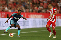 Kyle Walker-Peters of Tottenham and Borja Garcia of Girona during Girona FC vs Tottenham Hotspur, Friendly Match Football at Estadi Montilivi on 4th August 2018