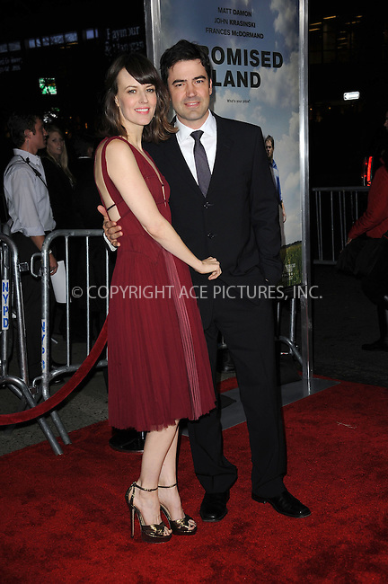 WWW.ACEPIXS.COM . . . . . .December 4, 2012...New York City....Rosemarie DeWitt and Ron Livingston attend the 'Promised Land' premiere at AMC Loews Lincoln Square 13 on December 4, 2012 in New York City ....Please byline: KRISTIN CALLAHAN - ACEPIXS.COM.. . . . . . ..Ace Pictures, Inc: ..tel: (212) 243 8787 or (646) 769 0430..e-mail: info@acepixs.com..web: http://www.acepixs.com .