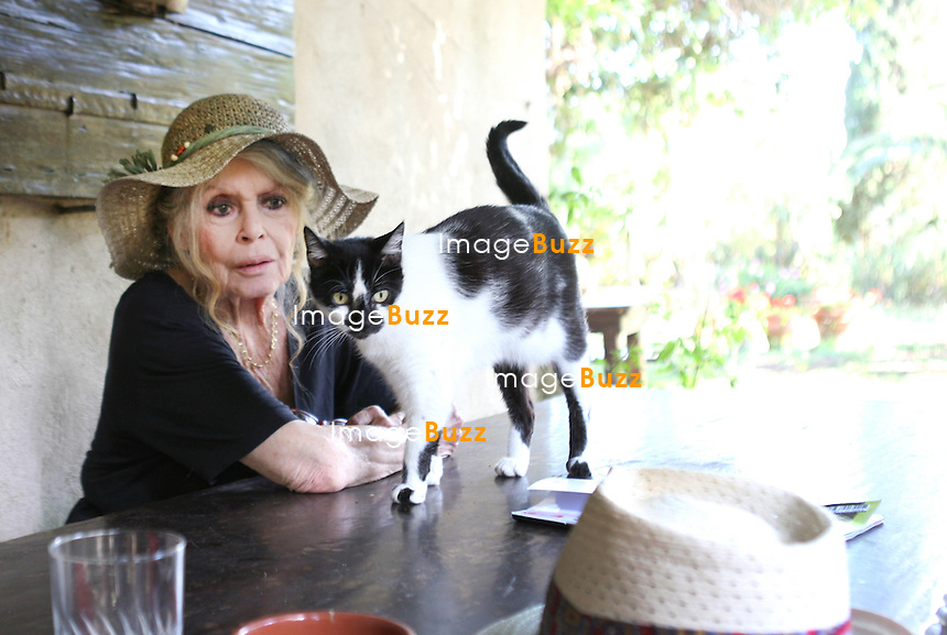 Brigitte Bardot celebrate her 80th Birthday on September 28, 2014.<br /> She lives in Saint-Tropez in between her two houses, ' La Garrigue &amp; La Madrague '.<br /> France, Saint-Tropez, September 28, 2014.