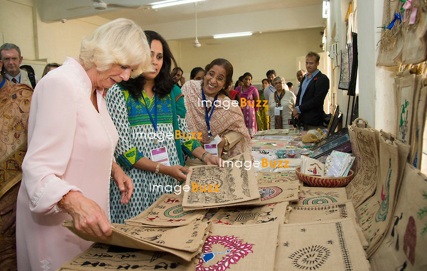 CAMILLA, DUCHESS OF CORNWALL<br /> visits the Asha Sadan Residential Home, Mumbai, India_09/11/2013.<br /> The couple are on a 9-day tour of India