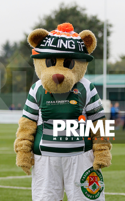 The mascot for Ealing Trailfinders RFC seen during the Greene King IPA Championship match between Ealing Trailfinders and Bedford Blues at Castle Bar , West Ealing , England  on 29 October 2016. Photo by Carlton Myrie / PRiME Media