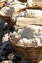 Salt buckets in Tamarin Bay, Mauritius.