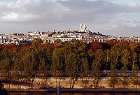 View of Montmartre from the Seine River, Paris