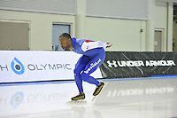 SPEED SKATING: SALT LAKE CITY: 19-11-2015, Utah Olympic Oval, ISU World Cup, training, Shani Davis (USA), ©foto Martin de Jong