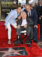 LOS ANGELES, CA. November 06, 2018: Kirk Douglas, Michael Douglas &amp; Cameron Douglas at the Hollywood Walk of Fame Star Ceremony honoring actor Michael Douglas.<br /> Pictures: Paul Smith/Featureflash