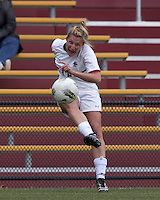 Boston College forward/midfielder Gibby Wagner (10) crosses the ball. Boston College defeated North Carolina State,1-0, on Newton Campus Field, on October 23, 2011.
