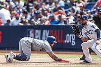 Alex Verdugo (i) y <br /> <br /> Acciones del partido de beisbol, Dodgers de Los Angeles contra Padres de San Diego, tercer juego de la Serie en Mexico de las Ligas Mayores del Beisbol, realizado en el estadio de los Sultanes de Monterrey, Mexico el domingo 6 de Mayo 2018.<br /> (Photo: Luis Gutierrez)