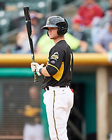 Matt Williams (7) of the Salt Lake Bees at bat against the El Paso Chihuahuas in Pacific Coast League action at Smith's Ballpark on April 30, 2017 in Salt Lake City, Utah. El Paso defeated Salt Lake 12-3. This was Game 2 of a double-header originally scheduled on April 28, 2017.  (Stephen Smith/Four Seam Images)