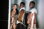 JOHANNESBURG, SOUTH AFRICA - MARCH 10: Models wait backstage for a show for the South African designer Stefania Morland during a show at Johannesburg Fashion Week week on March 10, 2016, at Nelson Mandela Square Johannesburg, South Africa. (Photo by: Per-Anders Pettersson)