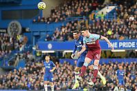 Declan Rice of West Ham United and Mason Mount Of Chelsea FC during Chelsea vs West Ham United, Premier League Football at Stamford Bridge on 30th November 2019