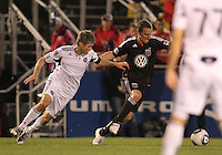 Kurt Mosink)#6 of D.C. United  moves the ball away from Logan Pause#12 of the Chicago Fire during a second round match of the Carolina Challenge on March 9 2011 at Blackbaud Stadium, in Charleston, South Carolina. D.C. United won 1-0.
