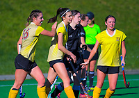 Action from the Wellington Hockey women's open grade premier one match between Northern United and Karori at National Hockey Stadium in Wellington, New Zealand on Saturday, 3 August 2019. Photo: Dave Lintott / lintottphoto.co.nz