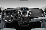 Stock photo of straight dashboard view of 2016 Ford Transit 150-XLT-Low-Roof 4 Door Passenger Van Dashboard