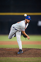 St. Lucie Mets relief pitcher Craig Missigman (26) delivers a pitch during a game against the Dunedin Blue Jays on April 20, 2017 at Florida Auto Exchange Stadium in Dunedin, Florida.  Dunedin defeated St. Lucie 6-4.  (Mike Janes/Four Seam Images)