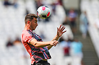 Aymeric Laporte of Manchester City warms up ahead of the Premier League match between West Ham United and Manchester City at the London Stadium, London, England on 10 August 2019. Photo by David Horn.