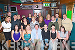 BIRTHDAY: Eddie Moroney, Tralee (seated 3rd left) having great time celebrating his birthday with a large group of family and friends at the Greyhound bar on Friday..   Copyright Kerry's Eye 2008