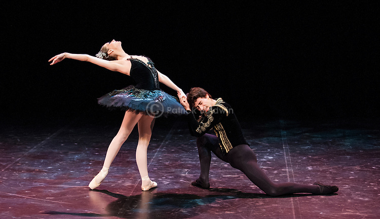 English National Ballet. Emerging Dancer competition 2013. Queen Elizabeth Hall. Guilherme Menezes, Laurretta Summerscales