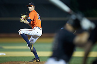 Virginia Cavaliers relief pitcher Blake Rohm (29) in action against the Wake Forest Demon Deacons at David F. Couch Ballpark on May 18, 2018 in  Winston-Salem, North Carolina.  The Cavaliers defeated the Demon Deacons 15-3.  (Brian Westerholt/Four Seam Images)