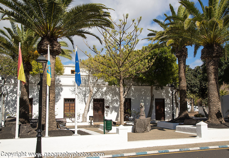 Ayuntamiento town hall building in Yaiza, Lanzarote, Canary Islands, Spain