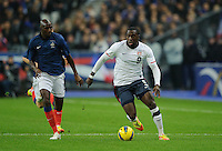 Alou Diarra of France and Jozy Altidore of team USA (l-r) fight for the ball during the friendly match France against USA at the Stade de France in Paris, France on November 11th, 2011.