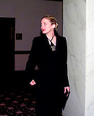 Carolyn Bessette Kennedy, wife of John F. Kennedy, Jr. (not pictured) attends the 1999 White House Correspondent's Dinner at the Washington Hilton Hotel in Washington, D.C. on May 1, 1999..Credit: Ron Sachs / CNP
