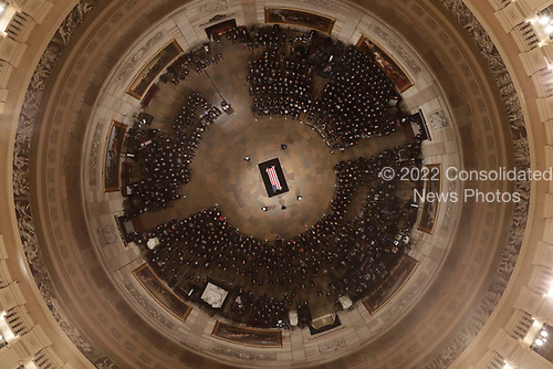 Speaker of the House Paul Ryan, of Wis.,<br />  speaks as Former President George H. W. Bush lies in state in the U.S. Capitol Rotunda Monday, Dec. 3, 2018, in Washington. (Pool photo by Morry Gash via AP)