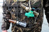 NWA Democrat-Gazette/FLIP PUTTHOFF<br /> Gardner uses duck and goose        Jan. 21, 2016          calls when hunting waterfowl at Beaver Lake