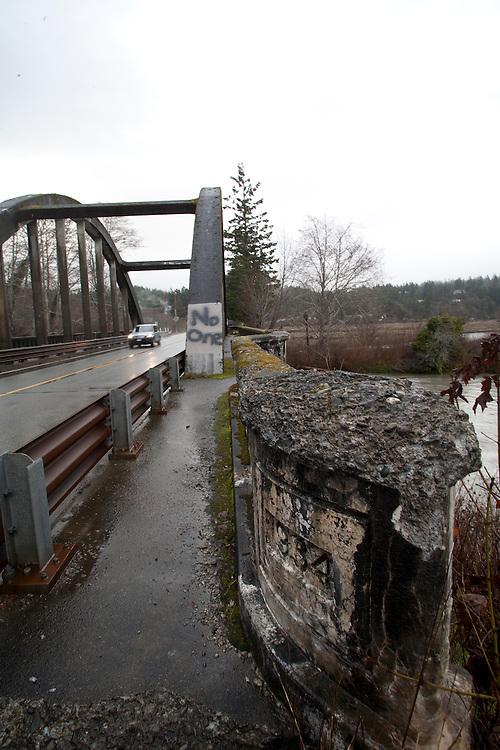 Highway 101, Duckabush River, 1934 Duckabush River Bridge, Jefferson County, Olympic Peninsula, Washington State, December 11, 2014,
