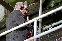 John Motson seen making his last commentary during the EPL - Premier League match between Crystal Palace and West Bromwich Albion at Selhurst Park, London, England on 13 May 2018. Photo by Carlton Myrie / PRiME Media Images.
