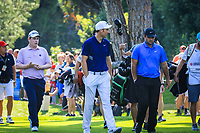 Patrick Reed (USA) and Ross Fisher (ENG) during the final round of the Turkish Airlines Open, Montgomerie Maxx Royal Golf Club, Belek, Turkey. 10/11/2019<br /> Picture: Golffile | Phil INGLIS<br /> <br /> <br /> All photo usage must carry mandatory copyright credit (© Golffile | Phil INGLIS)
