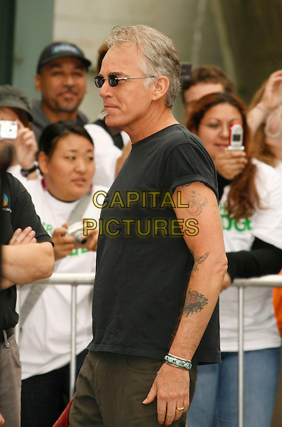 BILLY BOB THORNTON.At the ceremony for Bruce Willis as he is honored with the 2,321 Star on The Hollywood Walk of Fame outside Grauman's Chinese Theatre on Hollywood Boulevard, Hollywood, California, USA, 16 October 2006..half length black t-shirt tattoo side profile suunglasses.Ref: ADM/RE.www.capitalpictures.com.sales@capitalpictures.com.©Russ Elliot/AdMedia/Capital Pictures.
