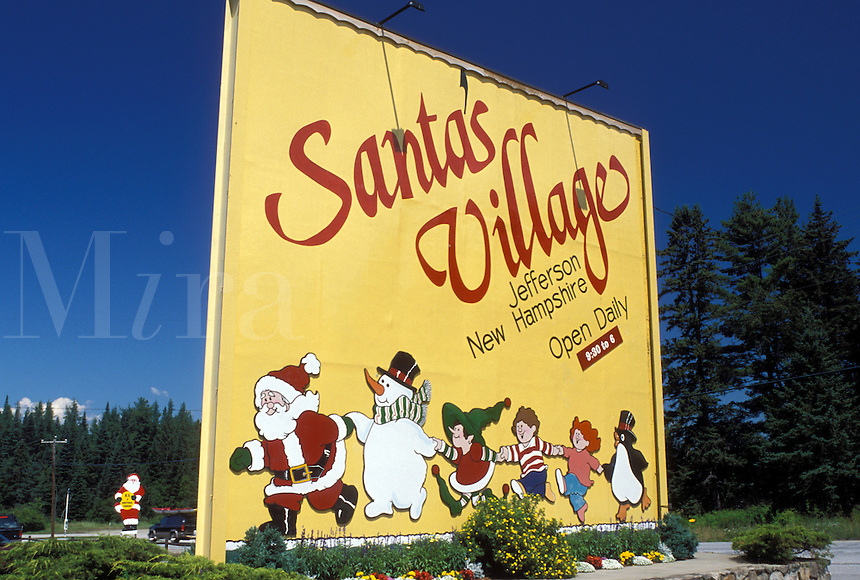 Jefferson, NH, New Hampshire, Entrance to Santa's Village in Jefferson