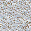 Tigress Siberia, a hand-cut stone mosaic, shown in tumbled Calacatta Tia, Jura Grey, and Celeste.