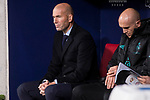 Real Madrid coach Zinedine Zidane during La Liga match between Atletico de Madrid and Real Madrid at Wanda Metropolitano in Madrid, Spain. November 18, 2017. (ALTERPHOTOS/Borja B.Hojas)