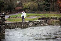 2016 11 22 RIver search for missing man near Bridgend, Wales, UK