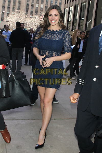 NEW YORK, NY - APRIL 16: Kelly Brook seen leaving SiriusXm studios on April 16, 2015 in New York City. <br /> CAP/MPI/RW<br /> &copy;RW/MPI/Capital Pictures