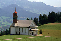 church, Switzerland, Lucerne, Entlebach Valley, Europe, Scenic view of St. Joseph Church in the Entlebach Valley.