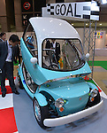 """June 14, 2012, Tokyo, Japan - Toyota's latest concept Camatte Sora is on display at the Tokyo Toy Show on Thursday, June 14, 2012, in Tokyo. ..The EV car features a realistic interior with an instrument cluster, adjustable seats, gas pedal, steering wheel and brakes. Toyota says that the idea of the Camatte is to """"convey the joy and dreams of motor vehicles to current and future drivers."""" The largest show of latest toys runs through Sunday, expecting to draw some 150,000 visitors including buyers from overseas. (Photo by Natsuki Sakai/AFLO) AYF -mis-."""