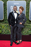 Nominated for BEST PERFORMANCE BY AN ACTOR IN A TELEVISION SERIES &ndash; DRAMA for his role in &quot;This Is Us,&quot; actor Sterling K. Brown and Ryan Michelle Bathe arrive at the 75th Annual Golden Globes Awards at the Beverly Hilton in Beverly Hills, CA on Sunday, January 7, 2018.<br /> *Editorial Use Only*<br /> CAP/PLF/HFPA<br /> &copy;HFPA/Capital Pictures