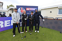 Lee Slattery (ENG) and team during the Hero Pro-am at the Betfred British Masters, Hillside Golf Club, Lancashire, England. 08/05/2019.<br /> Picture Fran Caffrey / Golffile.ie<br /> <br /> All photo usage must carry mandatory copyright credit (© Golffile | Fran Caffrey)