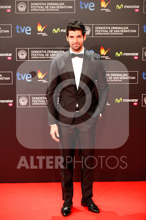 Actor Miguel Angel Munoz posses in the photocall of the 61 San Sebastian Film Festival, in San Sebastian, Spain. September 20, 2013. (ALTERPHOTOS/Victor Blanco)