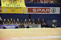JOHANNESBURG, SOUTH AFRICA - JANUARY 25: General view of the Silver Ferns before taking to the court during the Netball Quad Series netball match between Spar Proteas and Silver Ferns at the Ellis Park Arena in Johannesburg. Mandatory Photo Credit: ©Reg Caldecott/Michael Bradley Photography