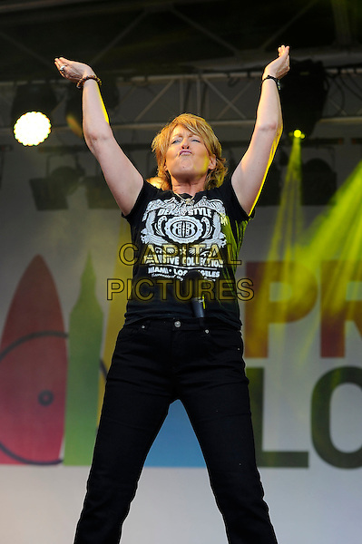 LONDON, UK, JUNE 28: Katrina Leskanich perfoms live on stage at Pride London in Trafalgar Square on June 28th 2014 in London, England, UK.<br /> CAP/MAR<br /> &copy; Martin Harris/Capital Pictures