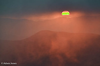 Sunrise, southern Appalachian Mountains, from Clingmans Dome, Great Smoky Mountains National Park, TN/NC
