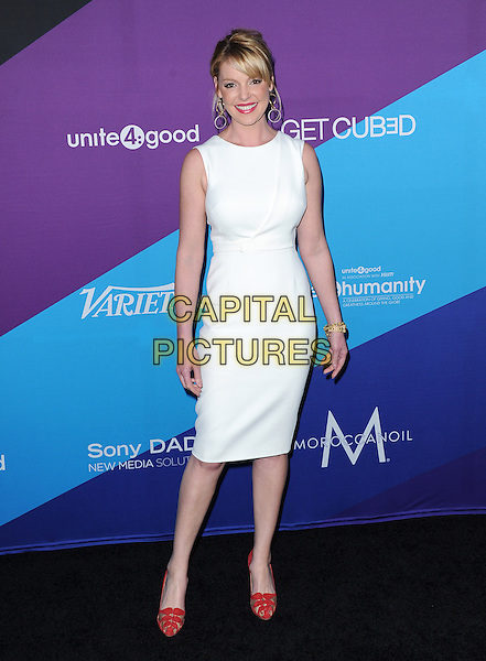 LOS ANGELES, CA - FEBRUARY 27 - Katherine Heigl attends unite4:good and Variety presentation &quot;unite4:humanity&quot; Celebrating Good, Giving and Greatness Around the Globe held at Sony Picture Studios in Culver City, California on February 27,2014                                                                              <br /> CAP/DVS<br /> &copy;DVS/Capital Pictures